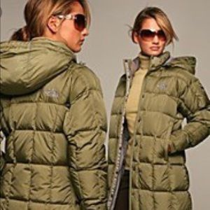 North Face Metropolis Parka Olive Green XS
